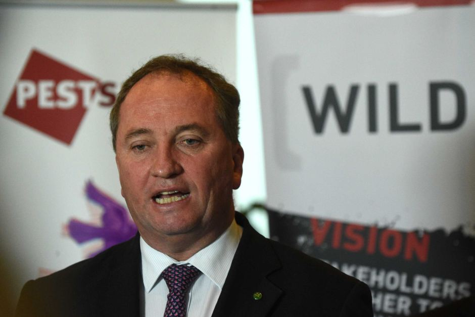 Barnaby Joyce last year said he preferred that Australians owned farming land. AAP Mick Tsikas